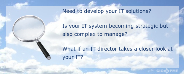 Need to develop your IT solutions? Is your IT system becoming strategic but also complex to manage? What if an IT manager takes a closer look at your IT?