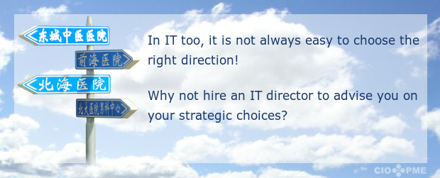 In IT too, it is not always easy to choose the right direction! Why not hire an IT director to advise you on your strategic choices?